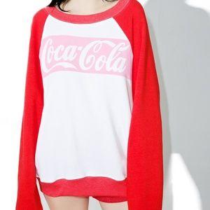 Wildfox Coca Cola Color-block Sommer's Sweater (S)